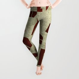 Absract Collage Leggings