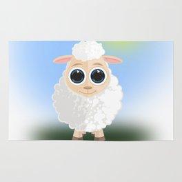 White Sheep Rug
