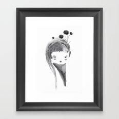 Dark Poppies Framed Art Print