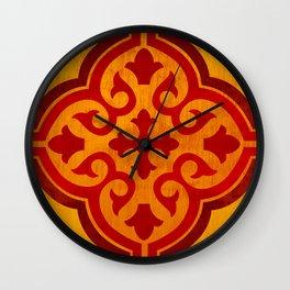 Azulejo Six – Gold Wall Clock