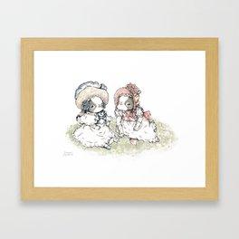 "The Dressed Dogs ""Japanese Chin Girls"" Framed Art Print"