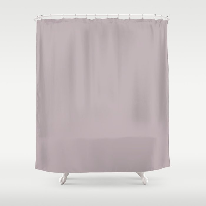 Annas Song Solid Soft Dusty Rose Shower Curtain