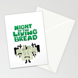 Night of the living Bread Stationery Cards