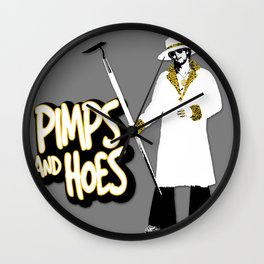 Pimps and Hoes Wall Clock