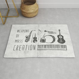 Weapons Of Mass Creation - Music (on paper) Rug