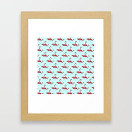 Flamingo Pattern Framed Art Print