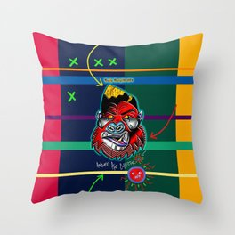 The Angry Art Collector Throw Pillow