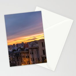 Sunset Over Nob Hill Stationery Cards