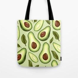 Avocado Illustration Pattern Tote Bag