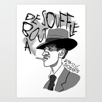 godard Art Prints featuring À bout de souffle (Breathless) by Laura Hines