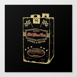 Old Time Car Oil Can  Canvas Print