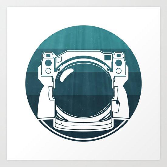 Underwater Astronaut Art Print