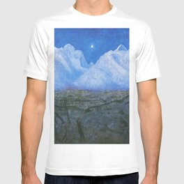 """Harald Sohlberg """"Winter Night in the Mountains (Winter Night in Rondane)"""" - study (1901) T-shirt"""