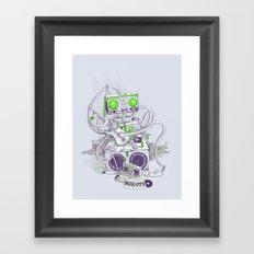 Hippy robot Framed Art Print