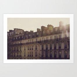 Paris Sunrise Art Print