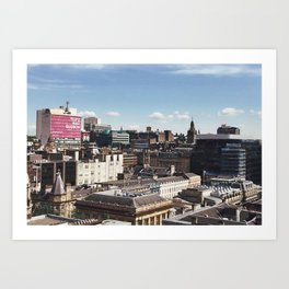 Glasgow with a view Art Print