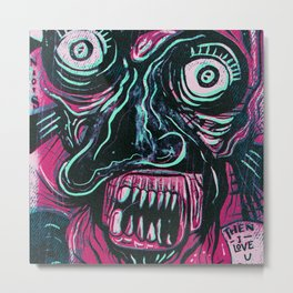 Pink Crazy Fella Metal Print