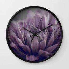 Beautiful Romantic Purple Mums Wall Clock
