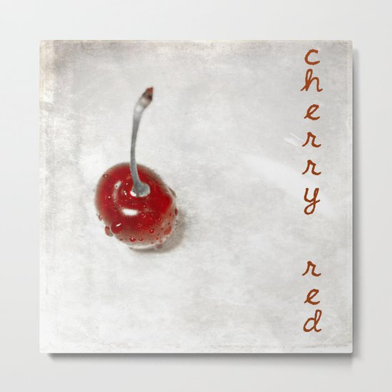 Cherry Red Metal Print