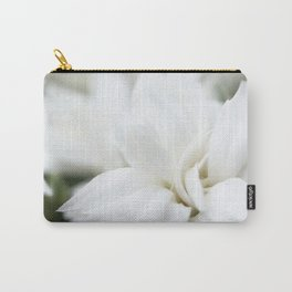 Snow White Flowers on a Dark Background #decor #society6 #buyart Carry-All Pouch
