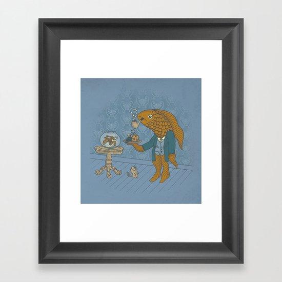 Big Eyed Fish Framed Art Print
