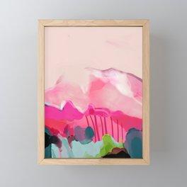 pink mountain Framed Mini Art Print