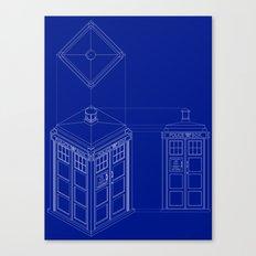Tardis -Dark Canvas Print