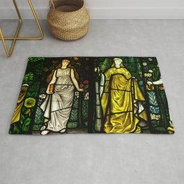 "William Morris ""Four seasons"" (Dining Room at Cragside House, Northumberland, UK) Rug"