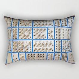 KNOBS AND HOLES Rectangular Pillow