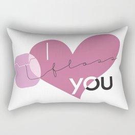 I Floss You Rectangular Pillow