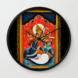 Hindu Durga 7 Wall Clock