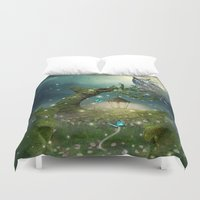 bebop Duvet Covers featuring Keeper of the Enchanted - Spring Thaw by soaring anchor designs