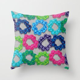Scrunchie Hairbands Throw Pillow
