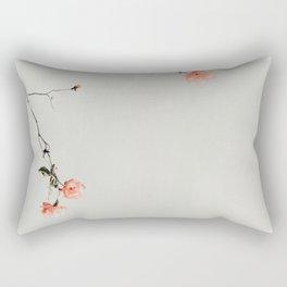 Pink Wild Roses Rectangular Pillow