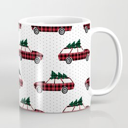 Christmas station wagon estate car holiday winter vacation vintage cars Coffee Mug