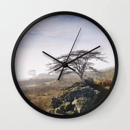Tree and rising cloud. Cumbria, UK. Wall Clock
