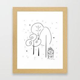 Magical Forest Illustration Framed Art Print