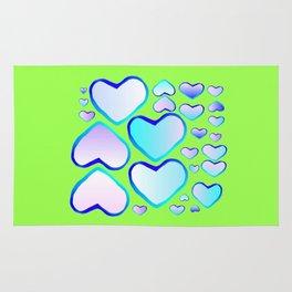 Garden of  hearts Rug