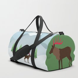 Winter in the mountains Duffle Bag