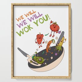 Veggies We Will Cook You Serving Tray