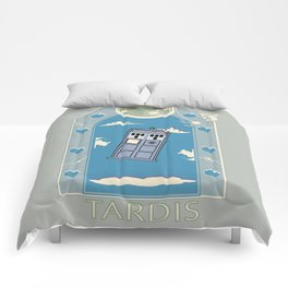 Art Nouveau Tardis Comforters