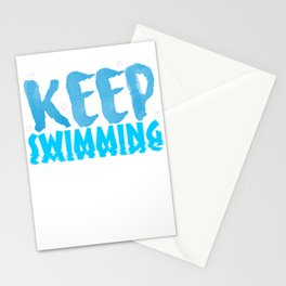 Keep Swimming Stationery Cards