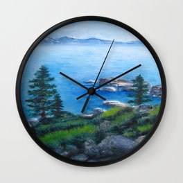 Lake Tahoe Lake of the Sky Wall Clock