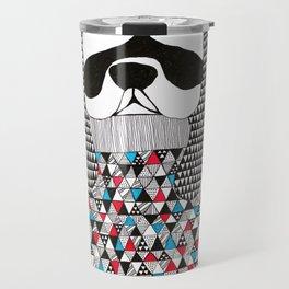 Hipster dog  Travel Mug