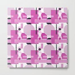 SSPOTS AND BOXX - Polka Dot, Kitsch, Circle, Pink, Sweet, Cute, Pop Art Metal Print