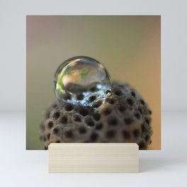 Droplet Macro Mini Art Print