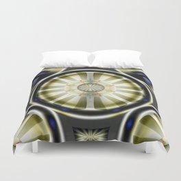 Pinwheel Hubcap in Sepia Duvet Cover