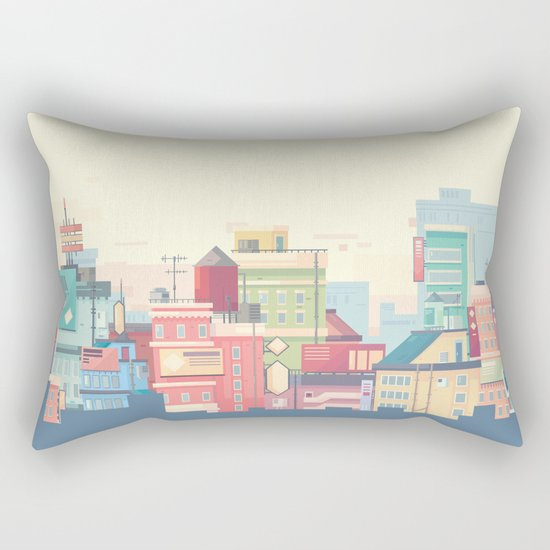 Little Apartments in a Big City Rectangular Pillow