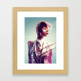 suit cigg Framed Art Print