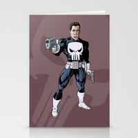 punisher Stationery Cards featuring The Punisher by Joseph  Griffin Art